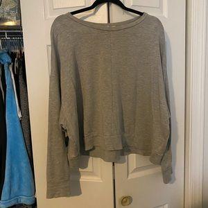 gap cropped sweatshirt
